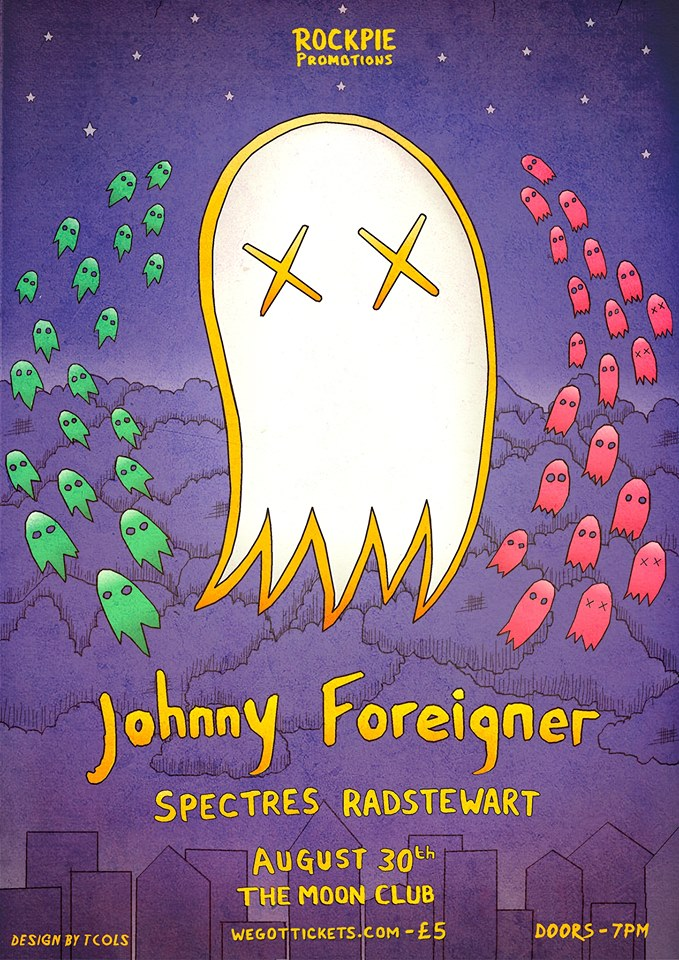 PREVIEW: Johnny Foreigner, Spectres and Radstewart @ The Moon Club on Friday 30th August