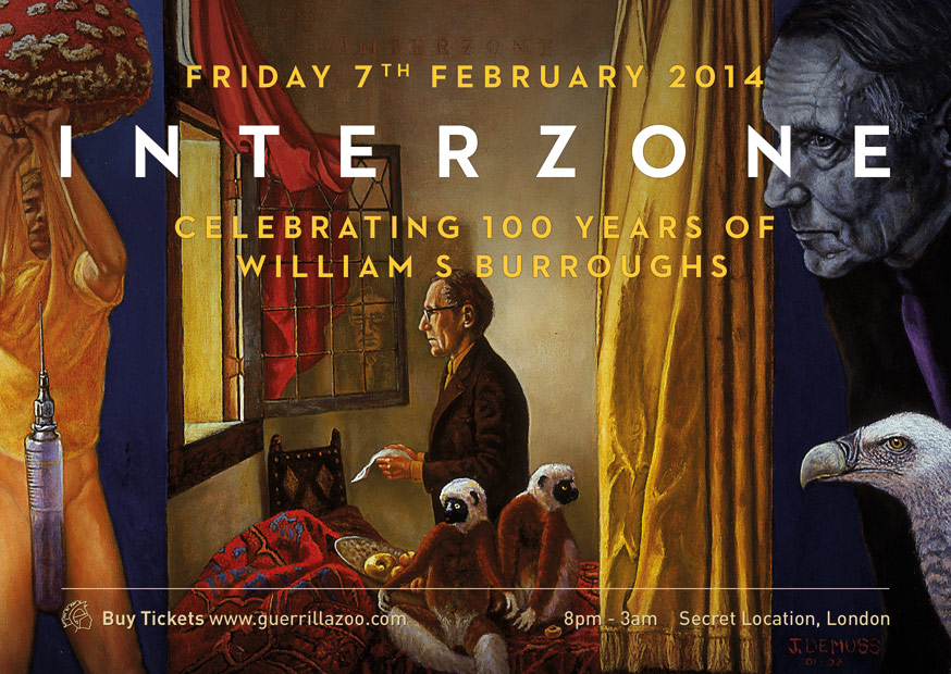 Labels, Interzone and a William S. Burroughs 100th Birthday Event 7th February.