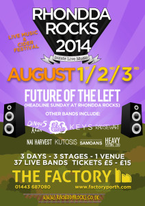 Rhondda Rocks this weekend with Future of the Left