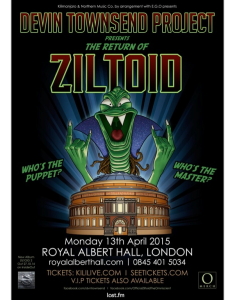 The Devin Townsend Project – Royal Albert Hall, London,13th April 2015