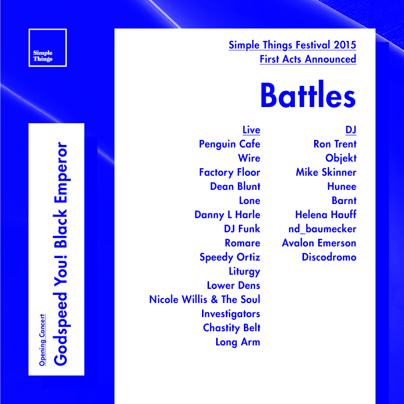 NEWS: Simple Things festival first line-up announcement