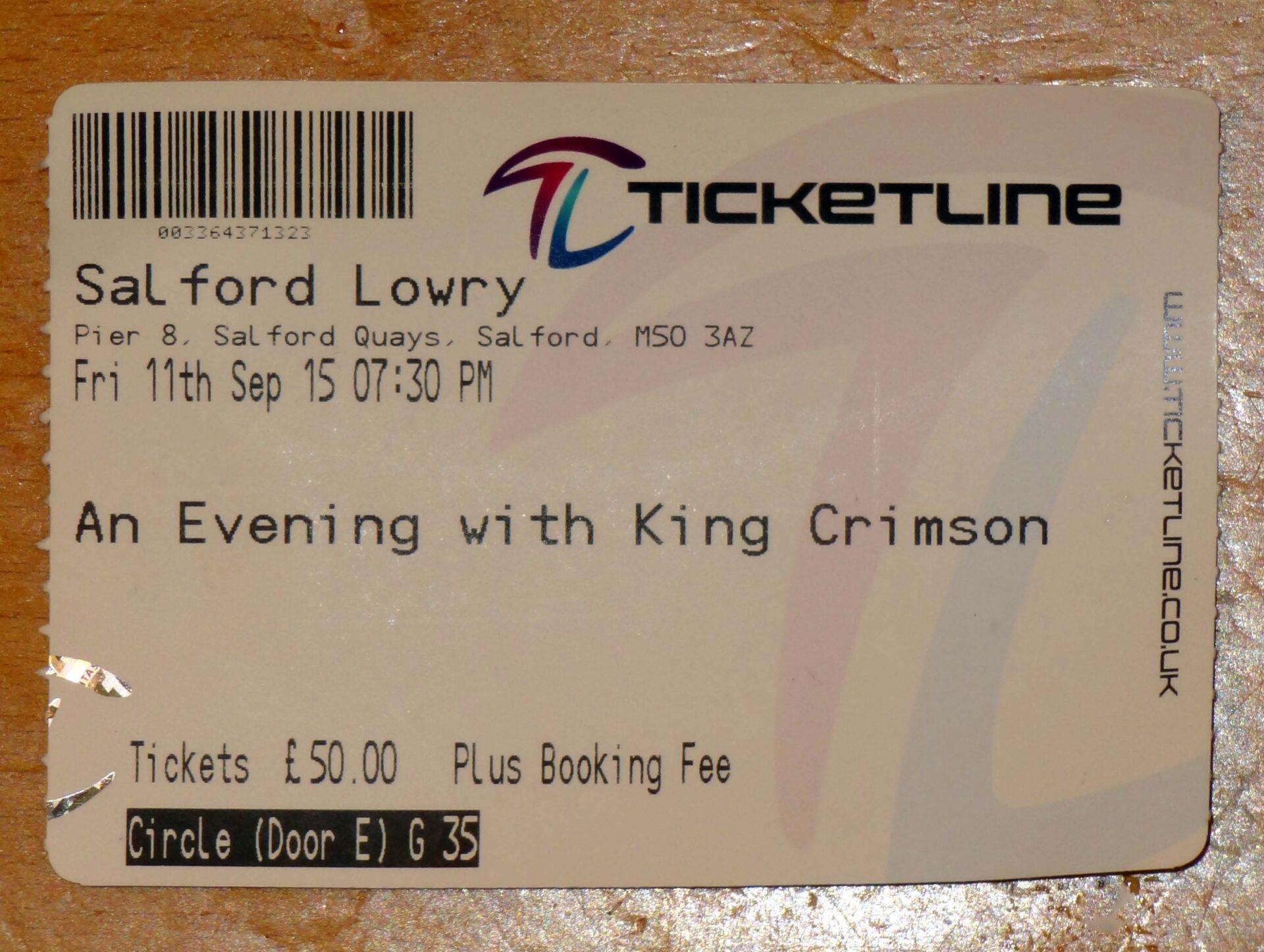 King Crimson – Salford Lowry, 11th September 2015