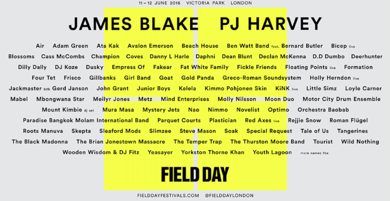 NEWS:  new names added to Field Day 2016 Sunday line up
