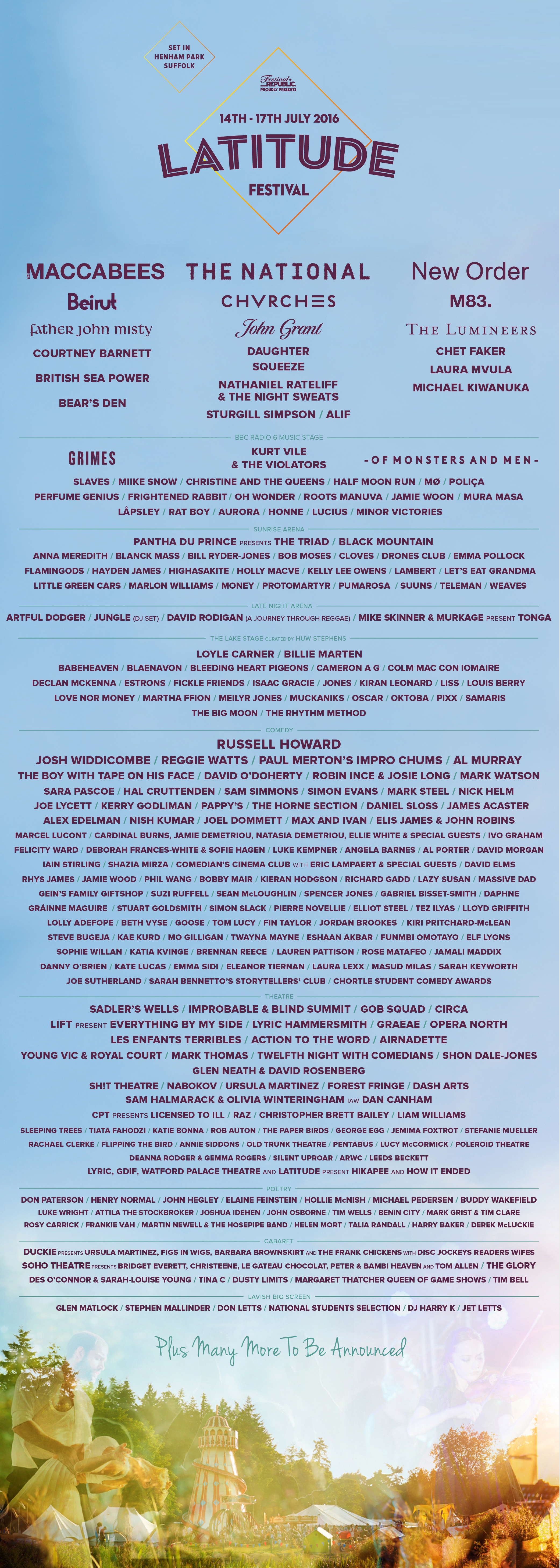 NEWS: Latitude Festival announces its Lake Stage line-up