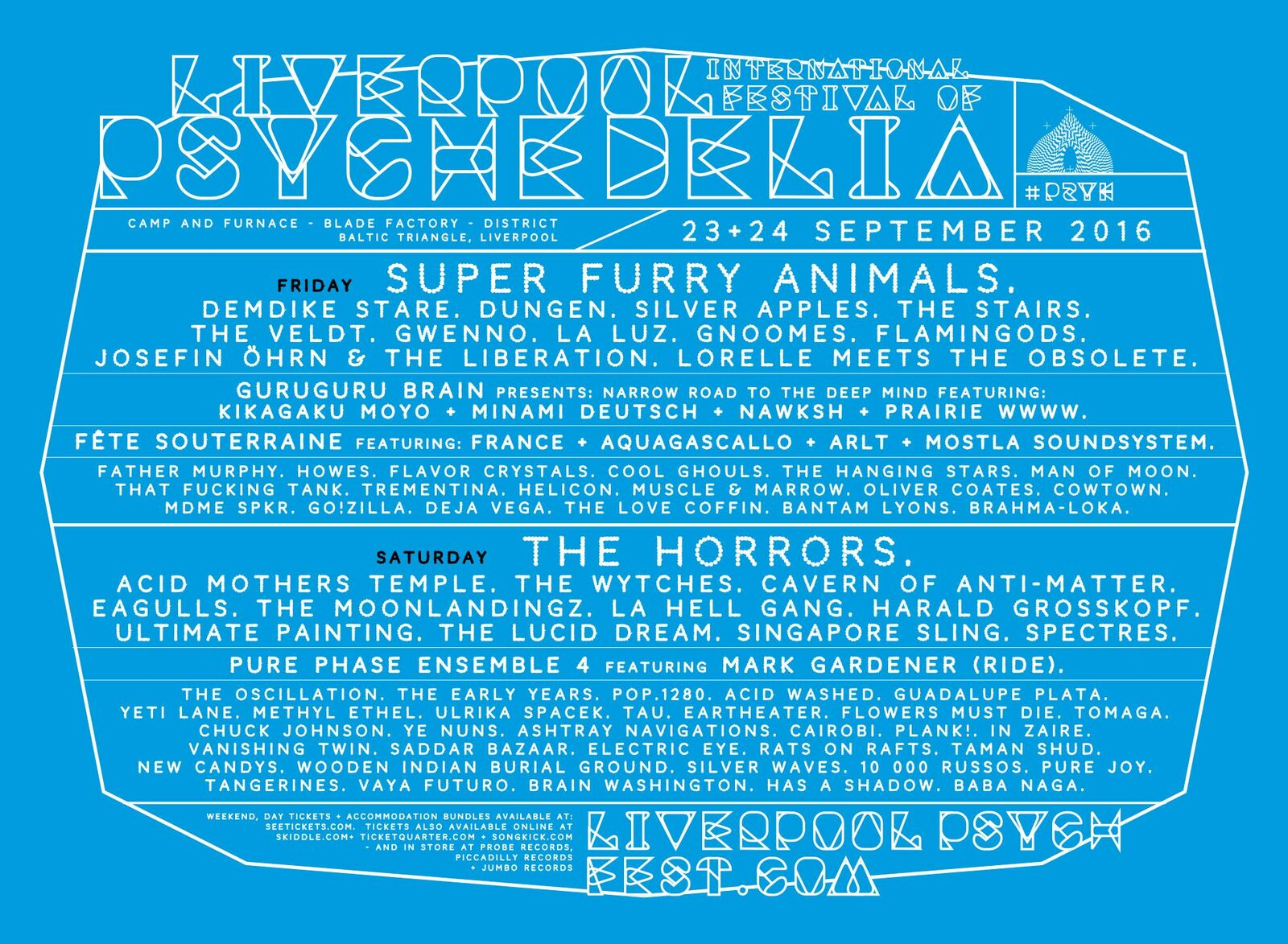 NEWS: second wave of artists announced for Liverpool Psych 2016