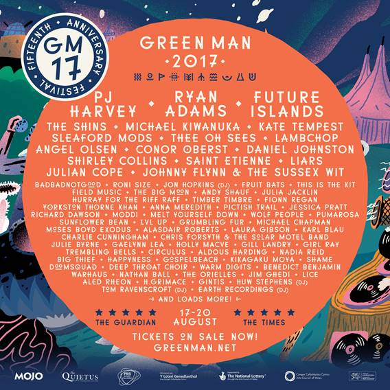 NEWS: Over 40 new acts added to Green Man 2017 anniversary line up