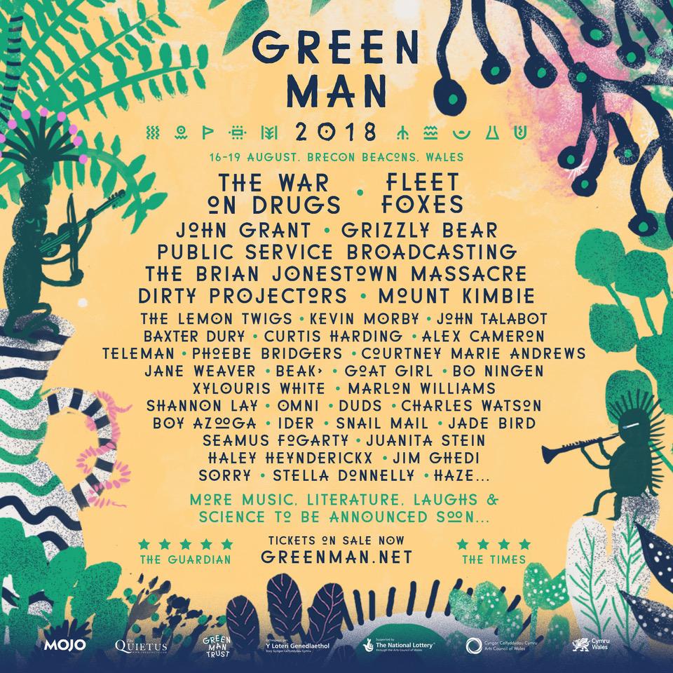 NEWS: Fleet Foxes, The War On Drugs, John Grant and Jane Weaver amongst first names for Green Man 2018