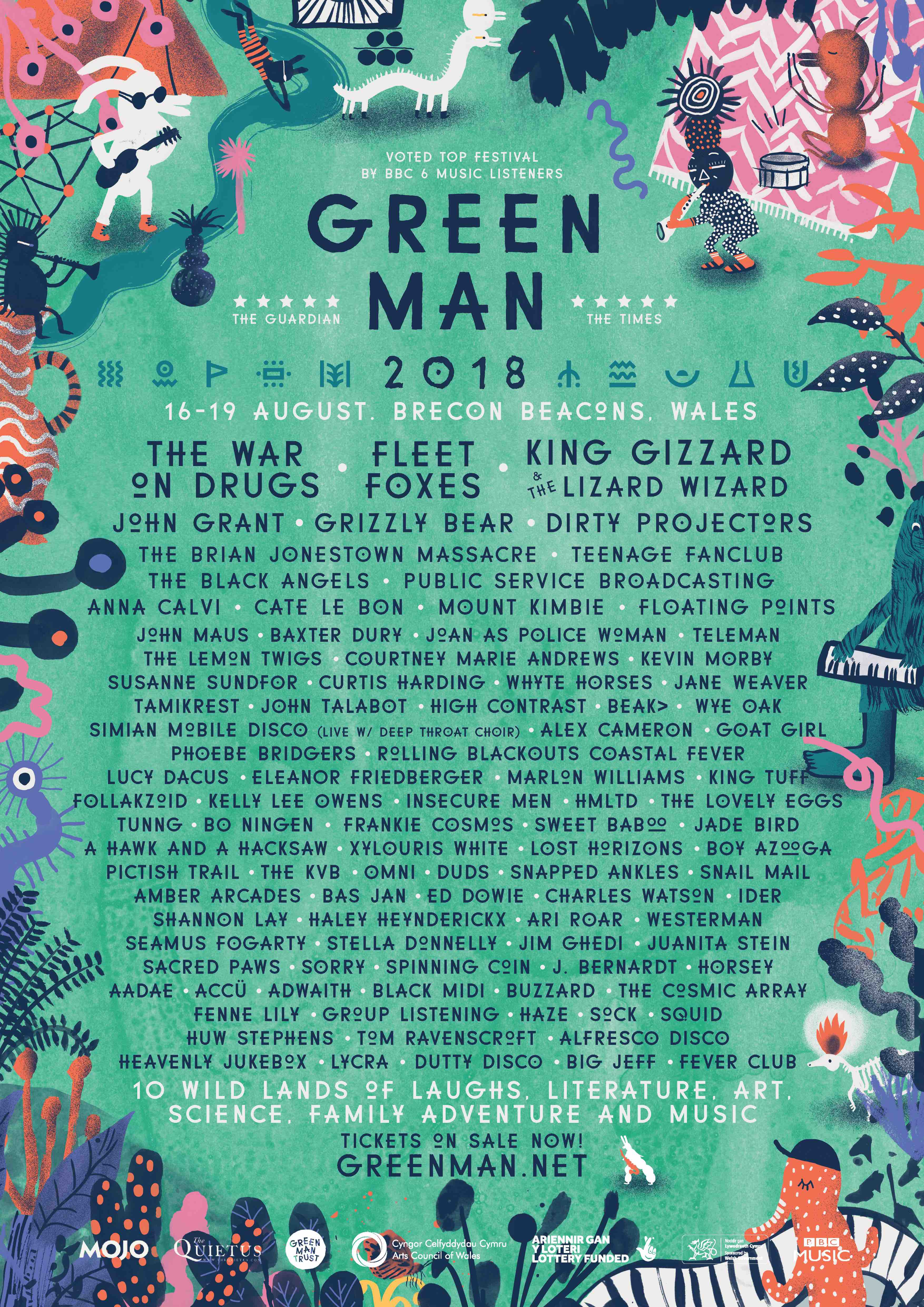 NEWS: Teenage Fanclub, The Lovely Eggs, Frankie Cosmos, Eleanor Friedberger amongst final additions for Green Man