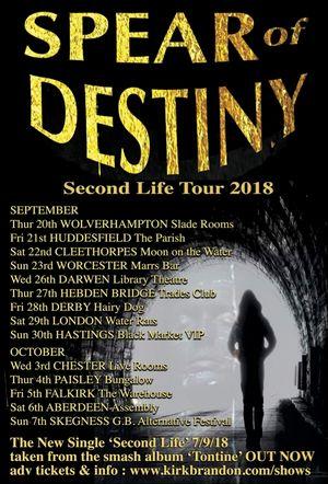 Spear Of Destiny – Wolverhampton Slade Rooms, 20/09/2018
