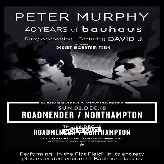 Peter Murphy/Desert Mountain Tribe/Thomas Truax – Northampton Roadmender, 06/12/2018