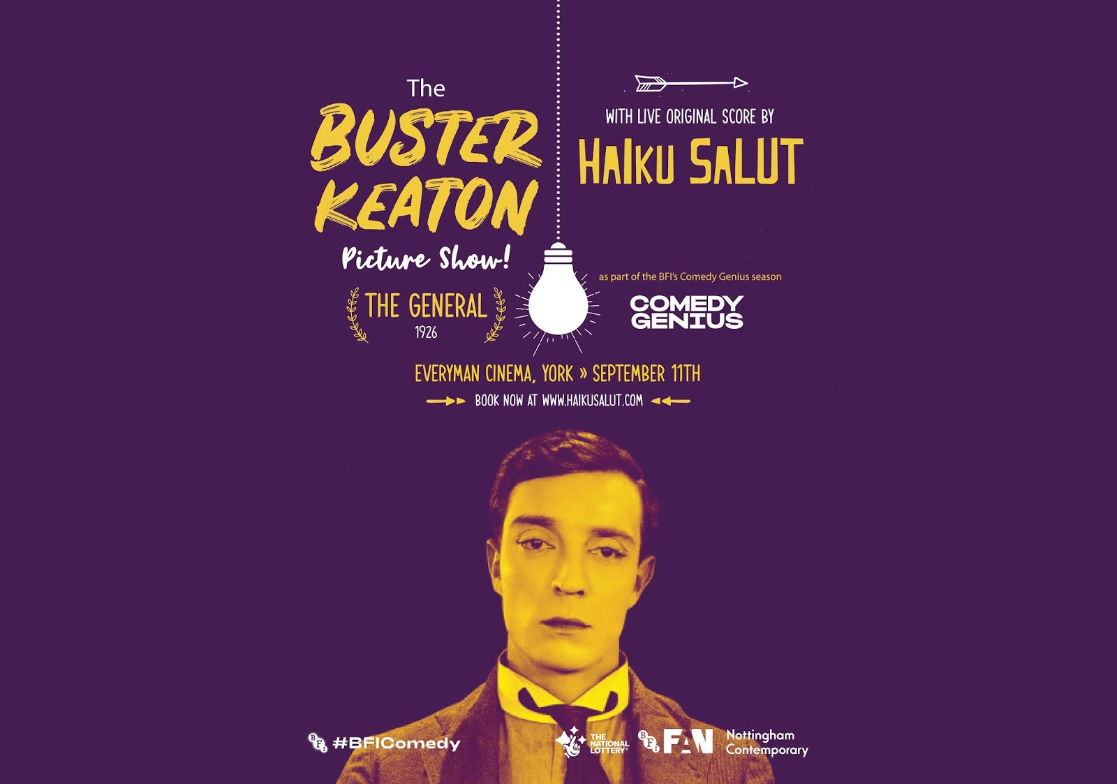 PREVIEW: The Buster Keaton Picture Show feat. Haiku Salut at the Everyman Cinema in York