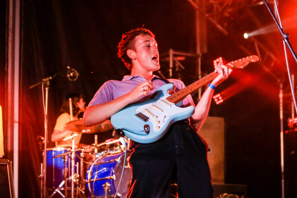 Henry Carlyle Wade of The Orielles at Indietracks 2019 music festival