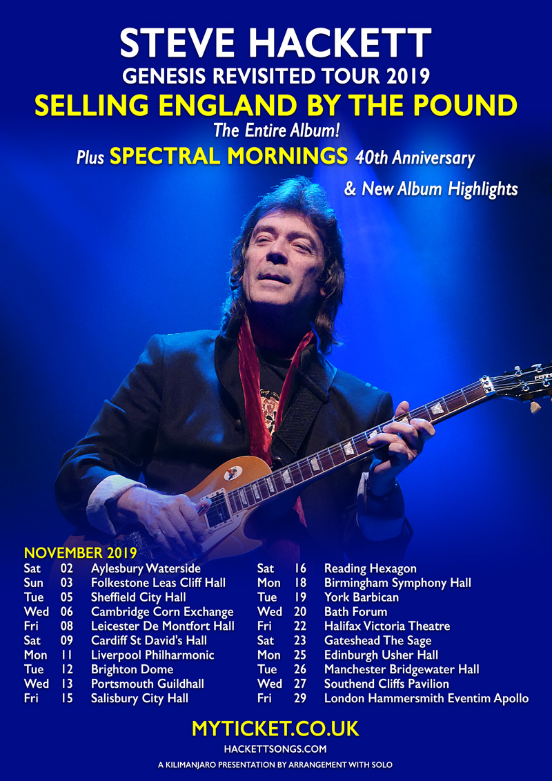PREVIEW: Steve Hackett – Genesis Revisited 2019