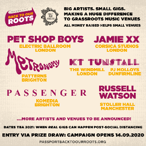 NEWS: Passport: Back to Our Roots: open draw to win entry to shows by Pet Shop Boys, Jamie xx, Metronomy, KT Tunstall and more