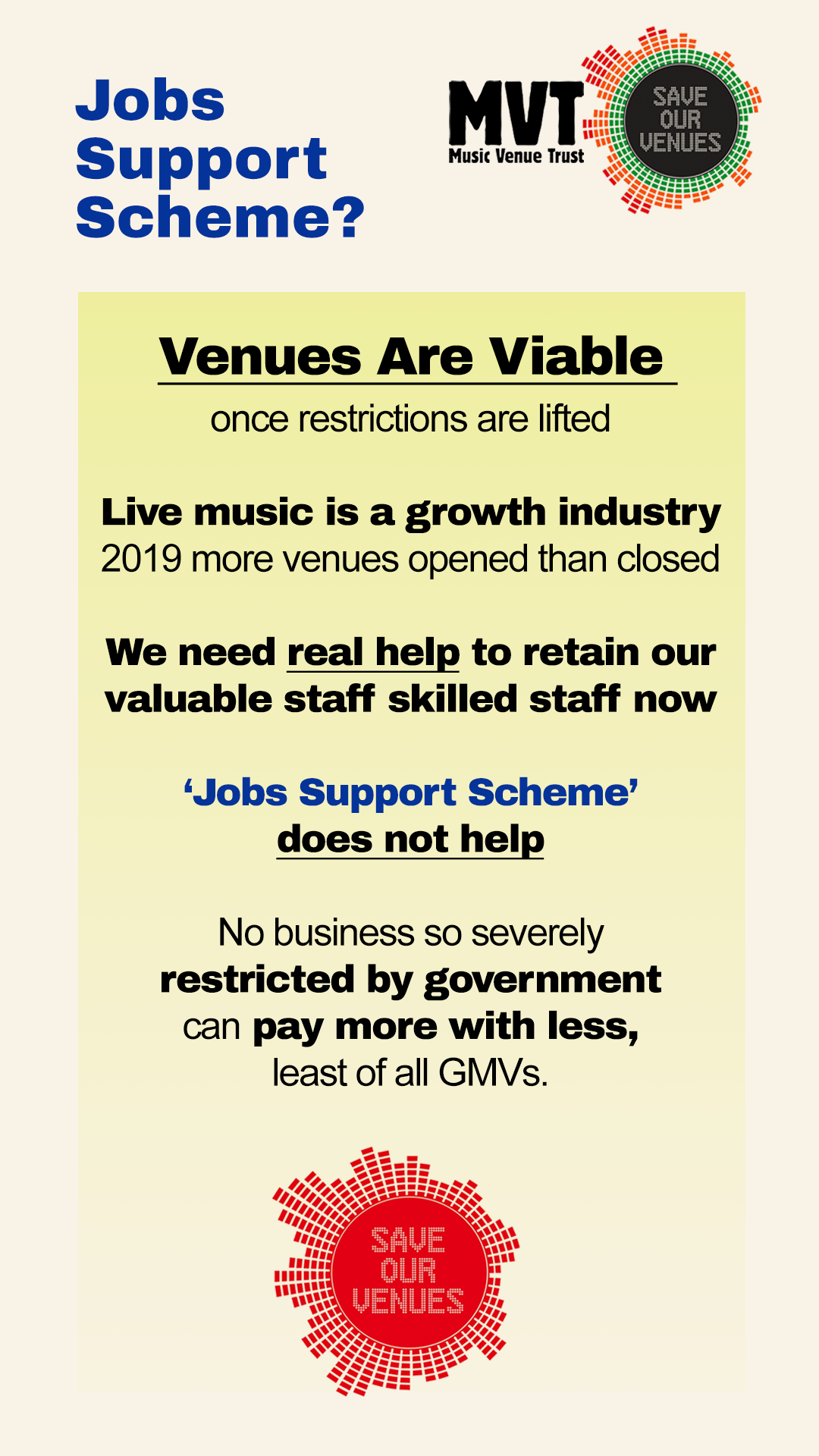 """NEWS: Music Venue Trust issue Open Letter to government """"Grassroots Music Venues: Viable Long Term Businesses"""""""