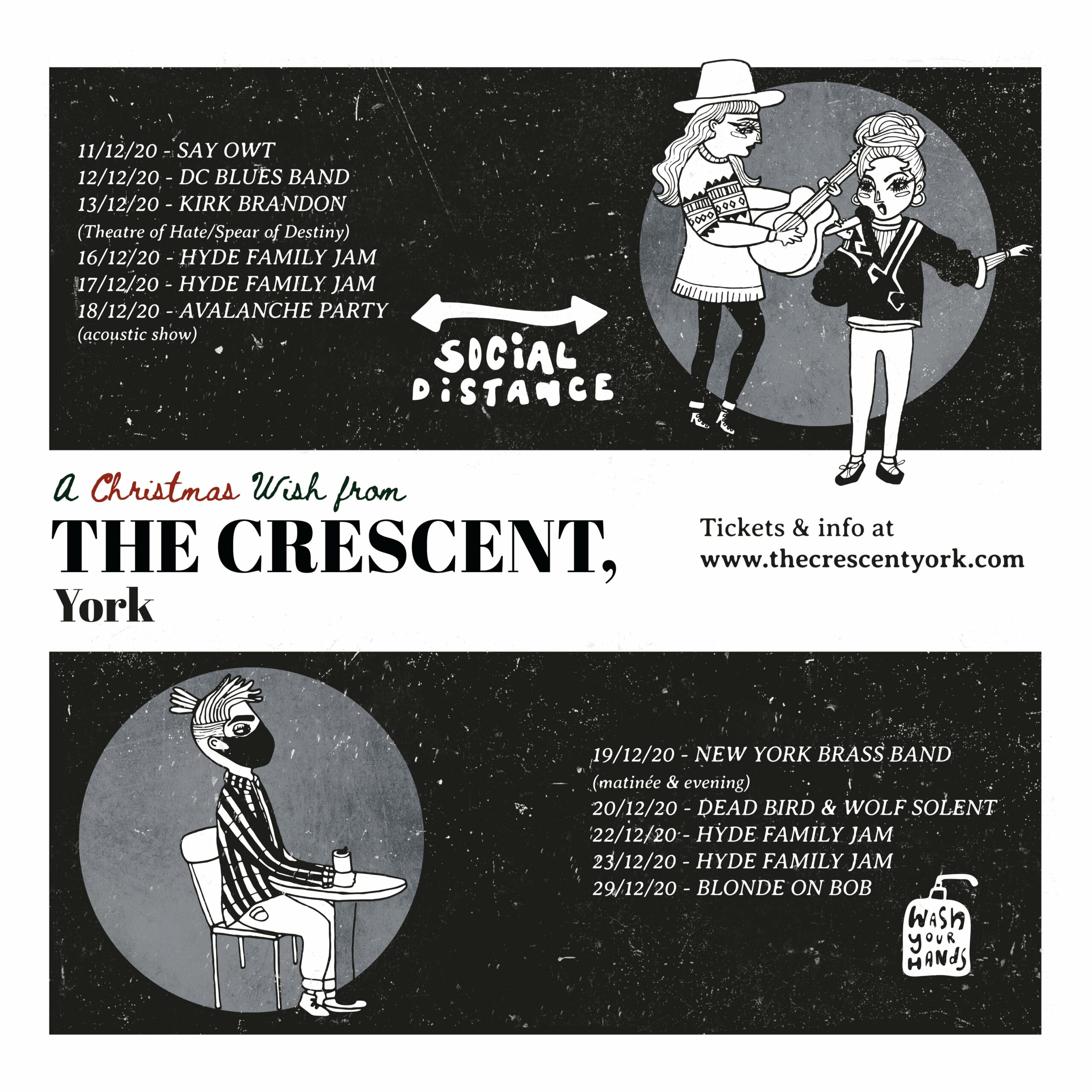 NEWS: The Crescent in York announces a series of socially distanced shows