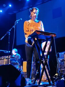 Singer and keyboard player Lætitia Sadierfrom the band Stereolab